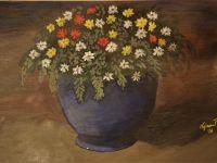 Still billede blomster i vase