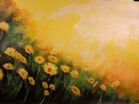 sun flowers yellow daisies akryl