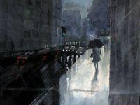 Urban rain acrylic regn by