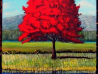 SOLGT Red tree Akryl på lærred